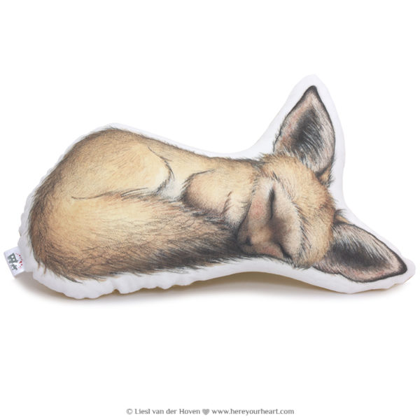 Fantine the Fox sleepy fox pillow friend